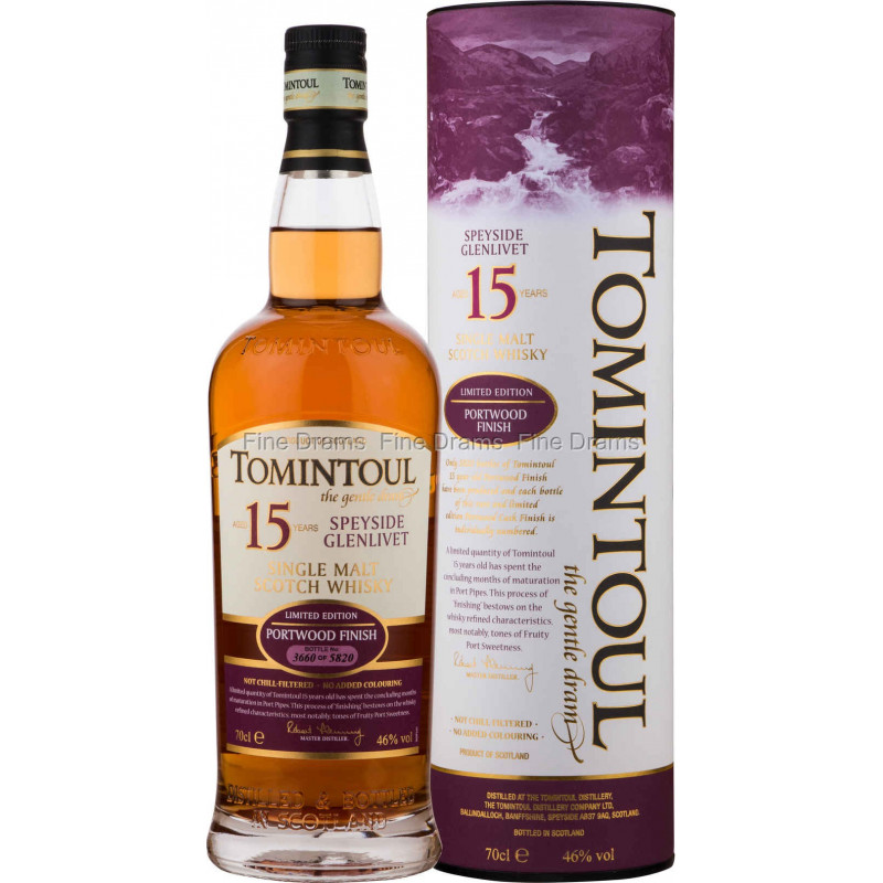 Scotch Whisky Tomintoul 15 Year Portwood Cask Finish