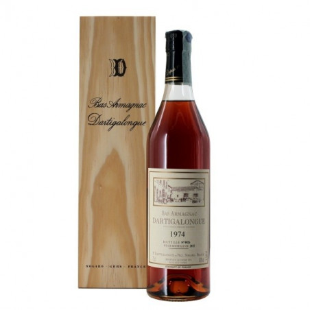 Dartigalongue Bas Armagnac 1974 Coffret Legno